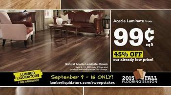 Lumber Liquidators TV Spot, '2015 Fall Flooring Season: Fall Laminates' - Thumbnail 5