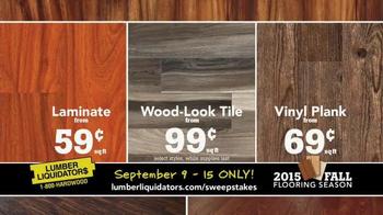Lumber Liquidators TV Spot, '2015 Fall Flooring Season: Fall Laminates' - Thumbnail 9