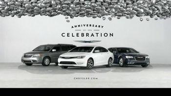 Chrysler Anniversary Celebration Event TV Spot, 'Reason to Celebrate'