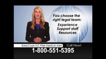 Lopez McHugh LLP TV Spot, 'Bard/Cook IVC Filter Medical Alert' - Thumbnail 9
