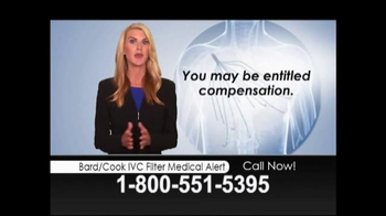 Lopez McHugh LLP TV Spot, 'Bard/Cook IVC Filter Medical Alert' - Thumbnail 2
