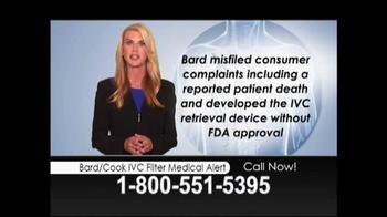 Lopez McHugh LLP TV Spot, 'Bard/Cook IVC Filter Medical Alert' - Thumbnail 4