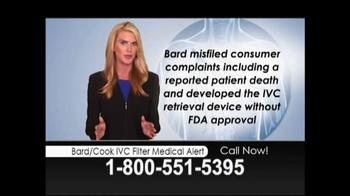 Lopez McHugh LLP TV Spot, 'Bard/Cook IVC Filter Medical Alert' - Thumbnail 5