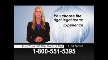 Lopez McHugh LLP TV Spot, 'Bard/Cook IVC Filter Medical Alert' - Thumbnail 8