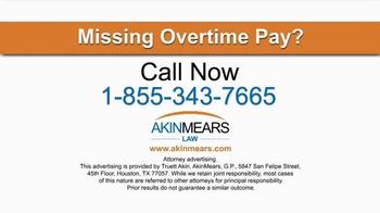 AkinMears TV Spot, 'Overtime Pay' - Thumbnail 4