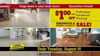 Lumber Liquidators Hardwood & Bamboo Closeout Sale TV Spot, 'Big Box' - Thumbnail 4