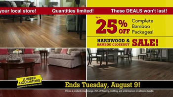 Lumber Liquidators Hardwood & Bamboo Closeout Sale TV Spot, 'Big Box' - Thumbnail 6