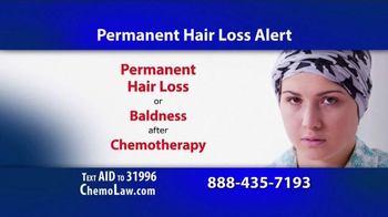 The Goss Law Firm P.C. TV Spot, 'Chemotherapy Hair Loss' - Thumbnail 1