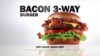 Carl's Jr. Bacon 3-Way Burger TV Spot, 'Fantasy' Featuring Genevieve Morton - Thumbnail 9