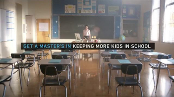 National University TV Spot, \'Get a Degree in Keeping More Kids in School\'