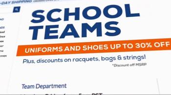 Tennis Warehouse TV Spot, 'School Teams' - Thumbnail 1