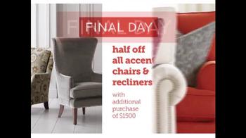 Bassett Half Off Weekend TV Spot, 'Final Day: Customized Chairs' - Thumbnail 4