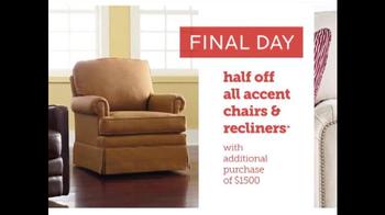 Bassett Half Off Weekend TV Spot, 'Final Day: Customized Chairs' - Thumbnail 5