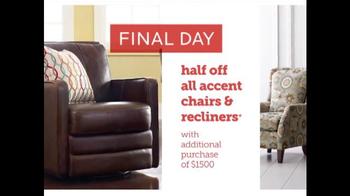 Bassett Half Off Weekend TV Spot, 'Final Day: Customized Chairs' - Thumbnail 7