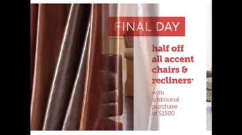 Bassett Half Off Weekend TV Spot, 'Final Day: Customized Chairs' - Thumbnail 8
