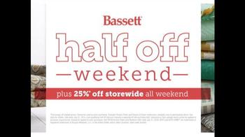 Bassett Half Off Weekend TV Spot, 'Final Day: Customized Chairs' - Thumbnail 9
