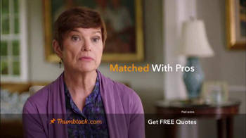 Thumbtack TV Spot, 'Qualified Professionals' - Thumbnail 1