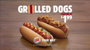 Burger King Grilled Dogs TV Spot, 'Awesome' - Thumbnail 8