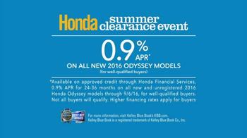 Honda Summer Clearance Event TV Spot, 'Boy's Choir: Odyssey' - Thumbnail 6