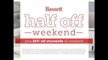 Bassett Half Off Weekend TV Spot, 'Two More Days: Beds and Seating' - Thumbnail 10