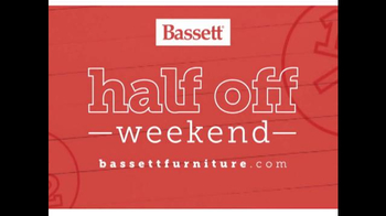Bassett Half Off Weekend TV Spot, 'Two More Days: Beds and Seating' - Thumbnail 2