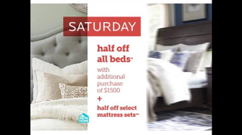 Bassett Half Off Weekend TV Spot, 'Two More Days: Beds and Seating' - Thumbnail 4