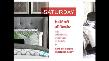 Bassett Half Off Weekend TV Spot, 'Two More Days: Beds and Seating' - Thumbnail 5