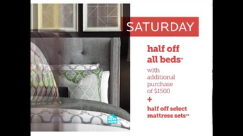 Bassett Half Off Weekend TV Spot, 'Two More Days: Beds and Seating' - Thumbnail 6