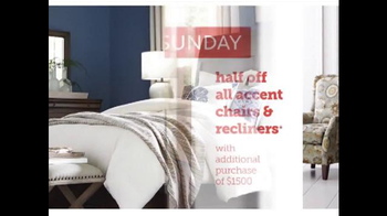 Bassett Half Off Weekend TV Spot, 'Two More Days: Beds and Seating' - Thumbnail 8
