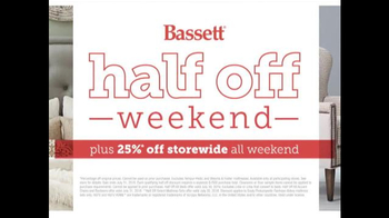 Bassett Half Off Weekend TV Spot, 'Two More Days: Beds and Seating' - Thumbnail 9