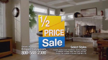 Empire Today Half Price Sale TV Spot, 'What You've Been Waiting For'