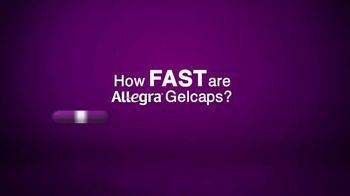 Allegra Gelcaps TV Spot, 'Nice Surprise' - Thumbnail 1