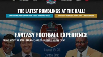 Pro Football Hall of Fame TV Spot, 'Ultimate Fantasy Football Experience' - Thumbnail 6
