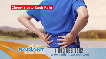 Radiant Clinical Research TV Spot, 'Chronic Low Back Pain Research Study' - Thumbnail 2