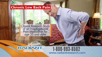 Radiant Clinical Research TV Spot, 'Chronic Low Back Pain Research Study' - Thumbnail 5