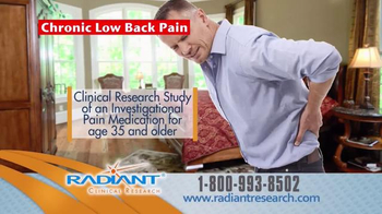 Radiant Clinical Research TV Spot, 'Chronic Low Back Pain Research Study' - Thumbnail 6