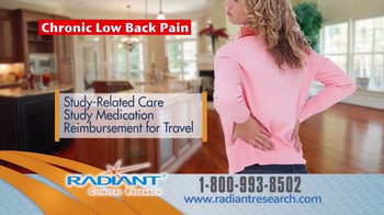Radiant Clinical Research TV Spot, 'Chronic Low Back Pain Research Study' - Thumbnail 7