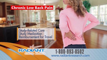 Radiant Clinical Research TV Spot, 'Chronic Low Back Pain Research Study' - Thumbnail 8