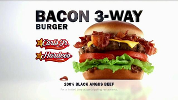 Carl's Jr. Bacon 3-Way Burger TV Spot, 'BBC America: Made for Each Other' - Thumbnail 8