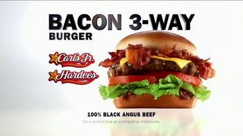 Carl's Jr. Bacon 3-Way Burger TV Spot, 'BBC America: Made for Each Other' - Thumbnail 7