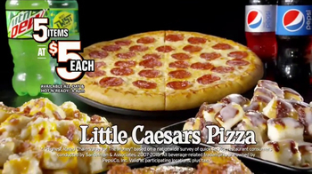 Little Caesars Pizza 5 for $5 TV Spot, 'Your Pick' - Thumbnail 5