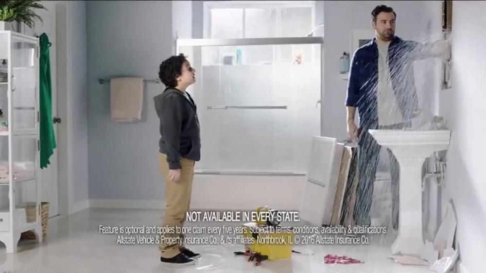 Progressive Accident Forgiveness >> Allstate TV Commercial, 'Burst Pipe' - iSpot.tv