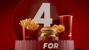 Wendy's 4 for $4 Meal TV Spot, 'Una opzzzzzzzión increíble.' [Spanish] - Thumbnail 1