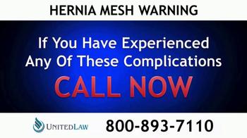 United Law TV Spot, 'Hernia Mesh Warning' - Thumbnail 2