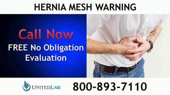 United Law TV Spot, 'Hernia Mesh Warning' - Thumbnail 3