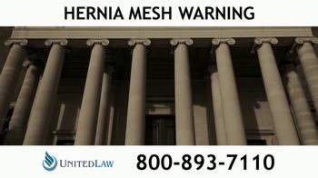 United Law TV Spot, 'Hernia Mesh Warning' - Thumbnail 4