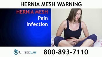 United Law TV Spot, 'Hernia Mesh Warning' - Thumbnail 5