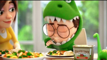 Country Crock TV Spot, 'Tu pequeño vegetalosaurio' [Spanish] - Thumbnail 6