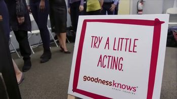 goodnessKNOWS TV Spot, 'Try Acting' - 159 commercial airings