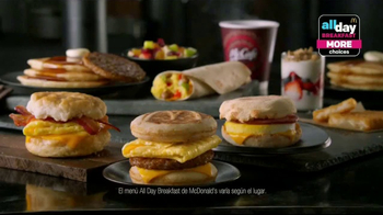 McDonald's All Day Breakfast TV Spot, 'Más selecciones' [Spanish]